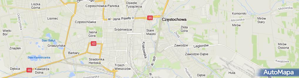 Zdjęcie satelitarne Przedsiębiorstwo Handlowo - Usługowe Fux Wiśniewski Henryk
