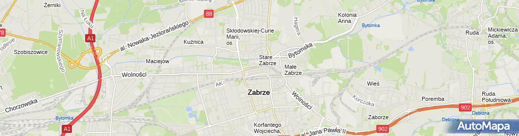 Zdjęcie satelitarne Przedsiębiorstwo Handlowo Usługowe Gabi