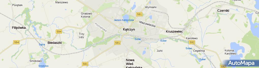 Zdjęcie satelitarne Przedsiębiorstwo Handlowo Usługowe Interstyl Moszczyński Szoka