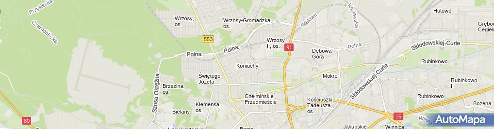 Zdjęcie satelitarne Przedsiębiorstwo Handlowo Usługowe Justyna
