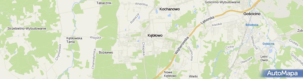 Zdjęcie satelitarne Przedsiębiorstwo Handlowo - Usługowe KSK Coloseum Kiedrowska Katarzyna, KSK Coloseum Kiedrowska Katarzyna