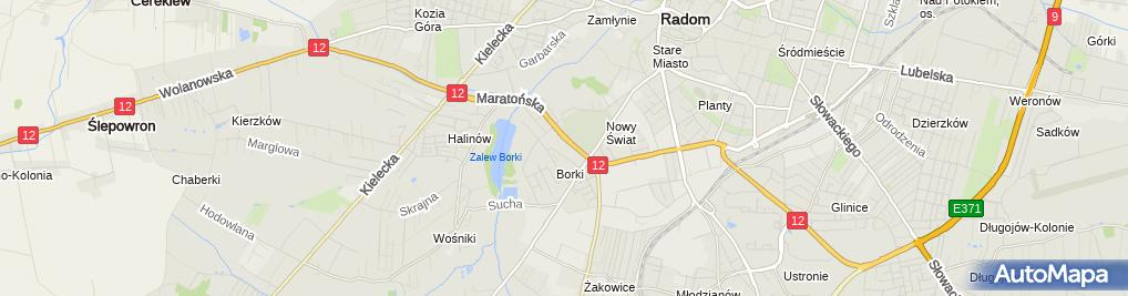 Zdjęcie satelitarne Przedsiębiorstwo Handlowo Usługowe Lechmar Sylwia Wrochna