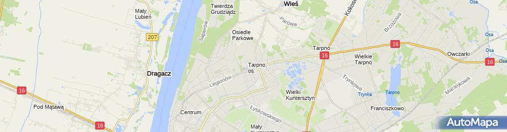 Zdjęcie satelitarne Przedsiębiorstwo Handlowo - Usługowe Marco Jędrzejewski