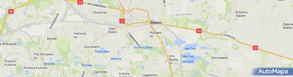 Zdjęcie satelitarne Przedsiębiorstwo Handlowo-Usługowe Monika Urbanowicz