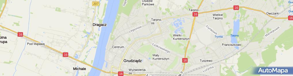 Zdjęcie satelitarne Przedsiębiorstwo Handlowo - Usługowe Motowit Łukasz Witkowski