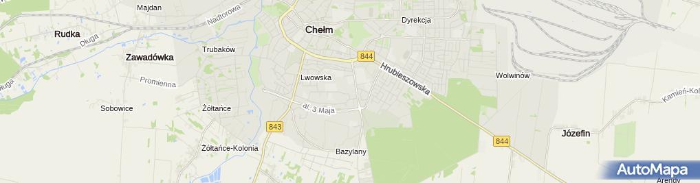 Zdjęcie satelitarne Przedsiębiorstwo Handlowo Usługowe Olimp