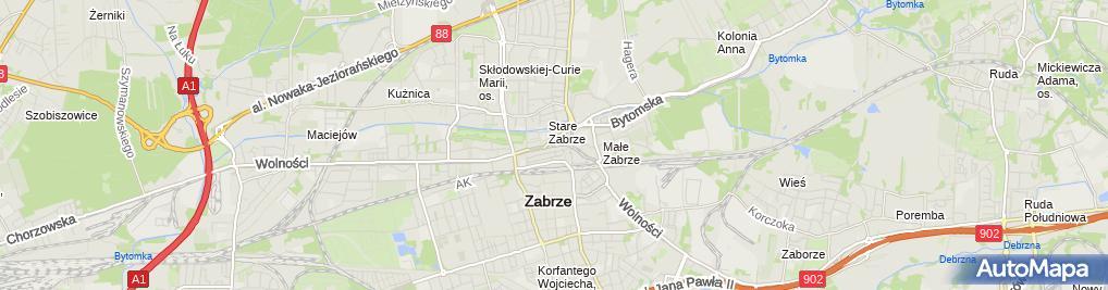 Zdjęcie satelitarne Przedsiębiorstwo Handlowo Usługowe P H U Kurowska E Kurowski B