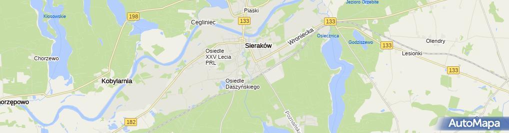 Zdjęcie satelitarne Przedsiębiorstwo Handlowo - Usługowe Polmozbyt Grażyna Bilon