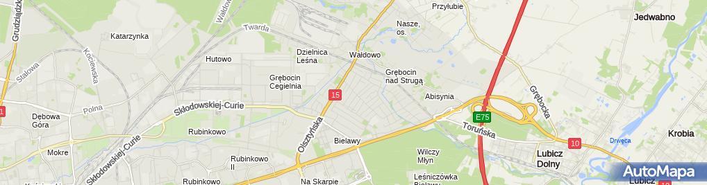 Zdjęcie satelitarne Przedsiębiorstwo Handlowo Usługowe Radtrans