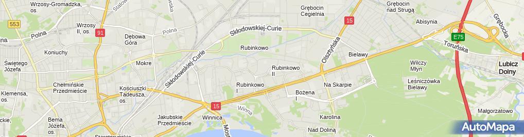 Zdjęcie satelitarne Przedsiębiorstwo Handlowo Usługowe Ryba Taksówka Osobowa