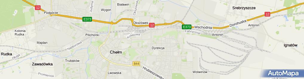 Zdjęcie satelitarne Przedsiębiorstwo Handlowo - Usługowe S z w Stanisław Wiciński