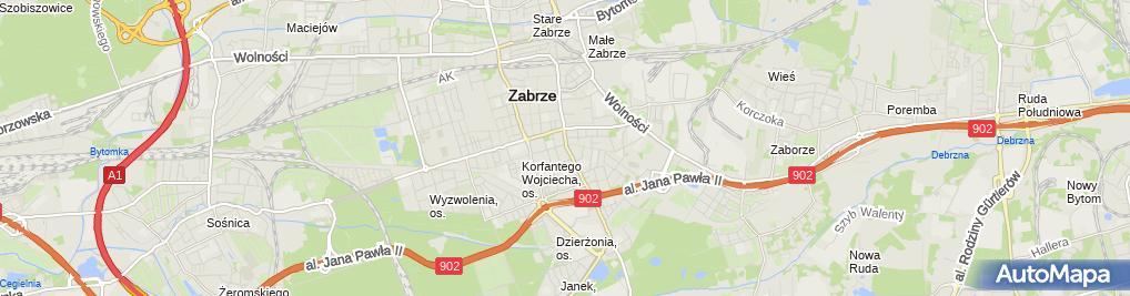 Zdjęcie satelitarne Przedsiębiorstwo Handlowo Usługowe Tapex GM Magiera Ginter Magiera Mariusz