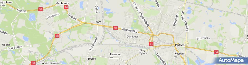 Zdjęcie satelitarne Przedsiębiorstwo Handlowo Usługowe Władyka Mieczysław Kornaś Marek