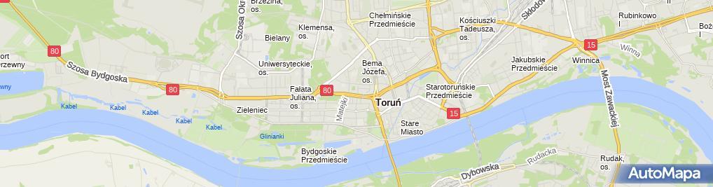 Zdjęcie satelitarne Przedsiębiorstwo Handlowo Usługowe