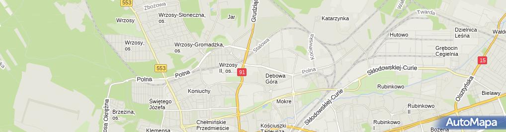 Zdjęcie satelitarne Przedsiębiorstwo Kartor Bis Czynsz Marek Karaś Marek
