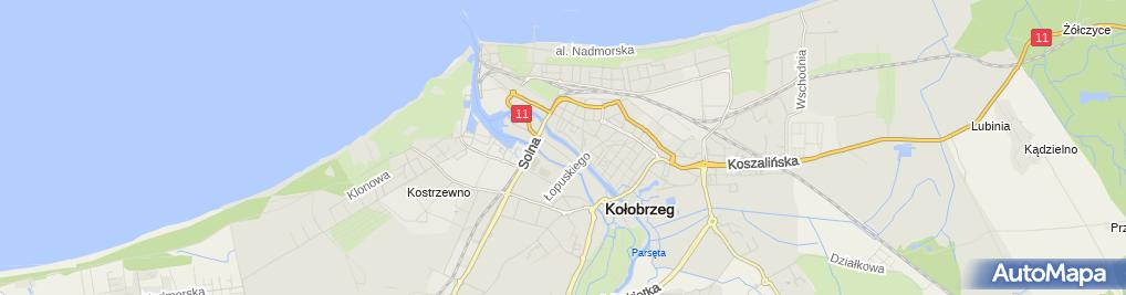 Zdjęcie satelitarne Przedsiębiorstwo Połowowo Handlowo Usługowe Jantar