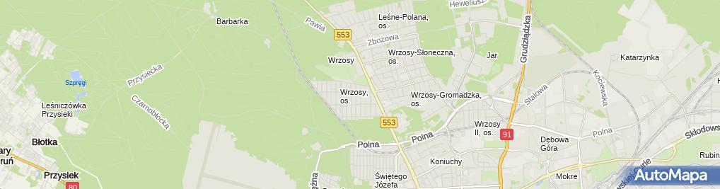 Zdjęcie satelitarne Przedsiębiorstwo Prod Handl Usł Sokół Gniewek Stanisław i Alicja