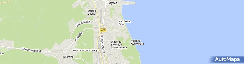 Zdjęcie satelitarne Przedsiębiorstwo Prod Handlowo Usługowe Amicus Tomczak J i SP