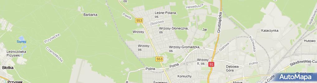 Zdjęcie satelitarne Przedsiębiorstwo Produkcyjno Handlowe Hedam Majszak Danuta