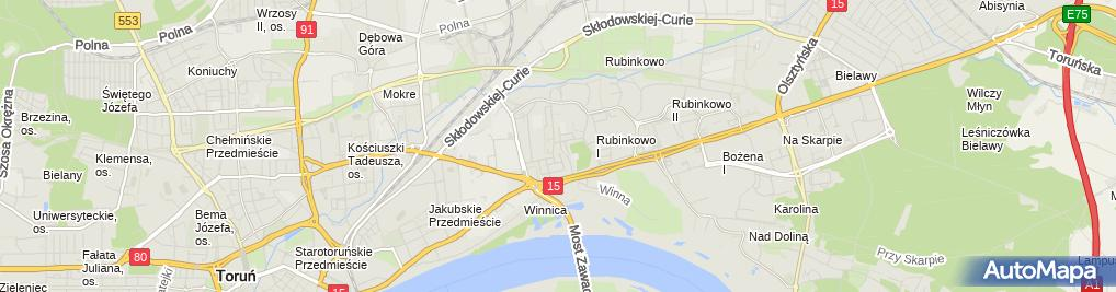 Zdjęcie satelitarne Przedsiębiorstwo Produkcyjno Handlowo Usługowe Amex Jan Wojtkowski