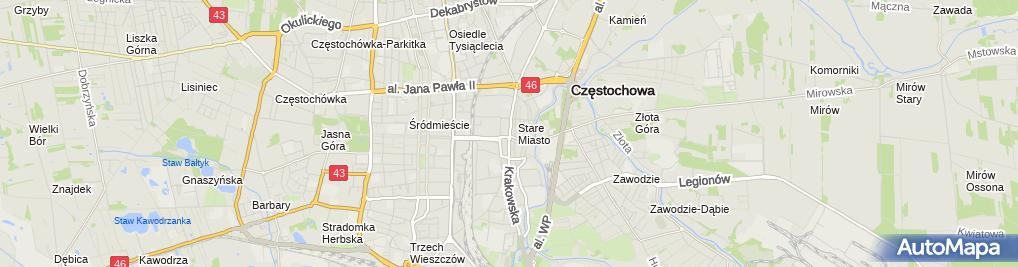 Zdjęcie satelitarne Przedsiębiorstwo Produkcyjno Handlowo Usługowe Cyrkonia