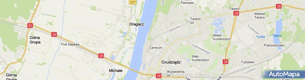 Zdjęcie satelitarne Przedsiębiorstwo Produkcyjno Handlowo Usługowe Gawex Małgorzata Witkowska