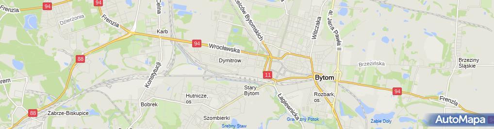 Zdjęcie satelitarne Przedsiębiorstwo Produkcyjno Handlowo Usługowe Mechanik Węgiel Elżbieta Grubiak Ewa