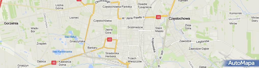 Zdjęcie satelitarne Przedsiębiorstwo Produkcyjno Handlowo Usługowe Pad Patyk Piotr Dubiński Andrzej