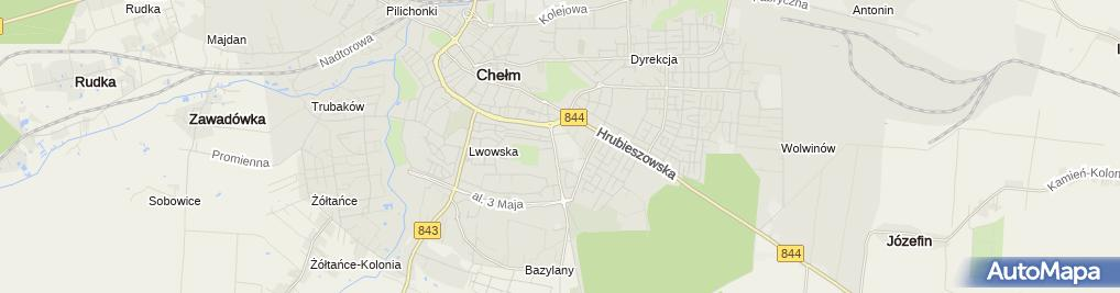 Zdjęcie satelitarne Przedsiębiorstwo Produkcyjno Usługowo Handlowe Acrux Józef Zamecki Jadwiga Zamecka