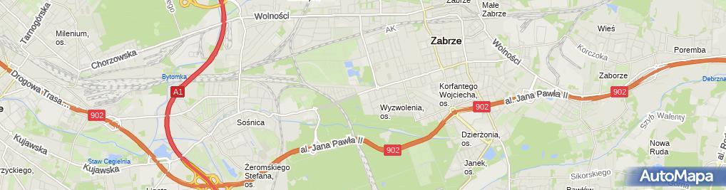Zdjęcie satelitarne Przedsiębiorstwo Produkcyjno Usługowo Handlowe Edmar Pluszka Edward Szuta Marek