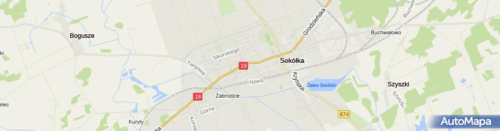 Zdjęcie satelitarne Przedsiębiorstwo Produkcyjno Usługowo Handlowe El Bit Iwona Dykiel i Bogdan Dykiel
