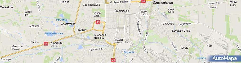 Zdjęcie satelitarne Przedsiębiorstwo Produkcyjno-Usługowo-Handlowe Instalex Janusz Kowalski