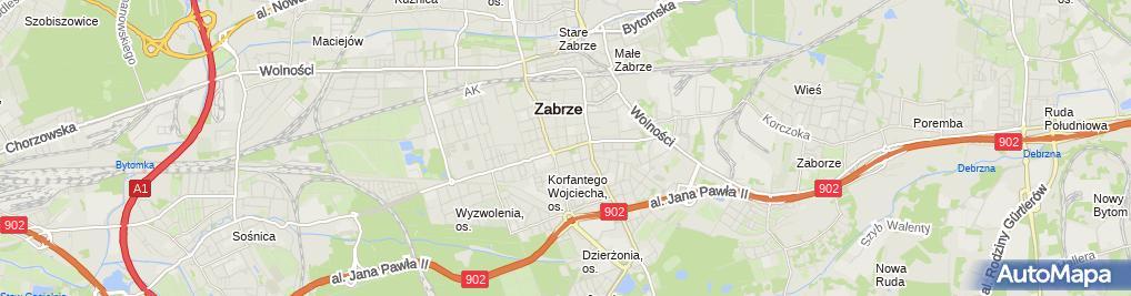Zdjęcie satelitarne Przedsiębiorstwo Projektowo-Usługowo-Handlowe Art-Projekt Pyster-Burdzińska Elżbieta