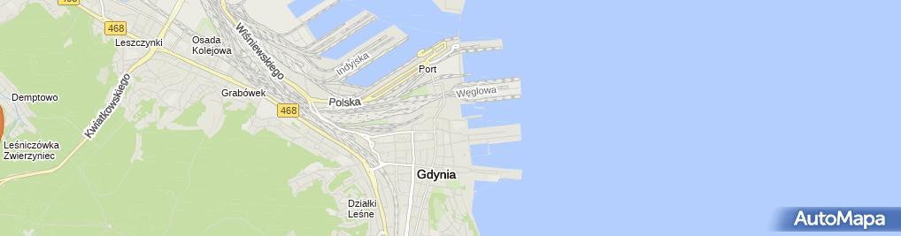 Zdjęcie satelitarne Przedsiębiorstwo Sword Piły Taśmowe Roman Wójcik