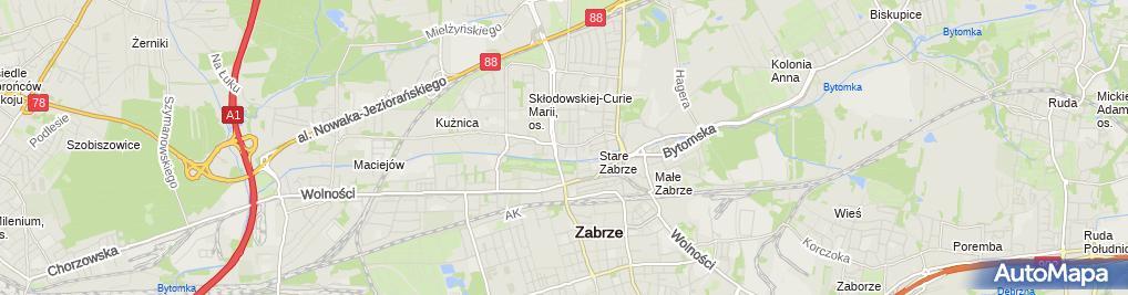 Zdjęcie satelitarne Przedsiębiorstwo Telekomunikacyjne Telsil Władysław Nowak, Krzysztof Słota