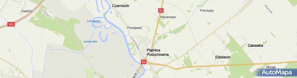 Zdjęcie satelitarne Przedsiębiorstwo Telnet Paweł Zych
