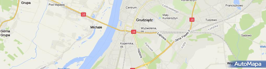 Zdjęcie satelitarne Przedsiębiorstwo Transportowo Spedycyjne Transpo Zbigniew Jagodziński Katarzyna Cyrankowska
