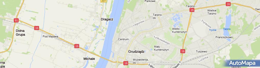 Zdjęcie satelitarne Przedsiębiorstwo Usł Hand Pol Mar Podlińska Maria Osiński Janusz