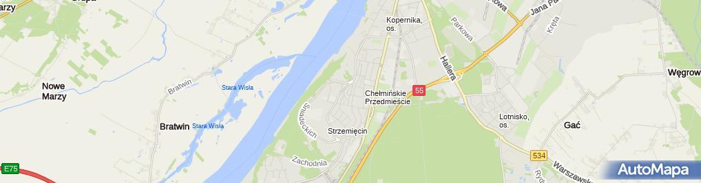 Zdjęcie satelitarne Przedsiębiorstwo Usług Technicznych Altronik Alina Wiczarska