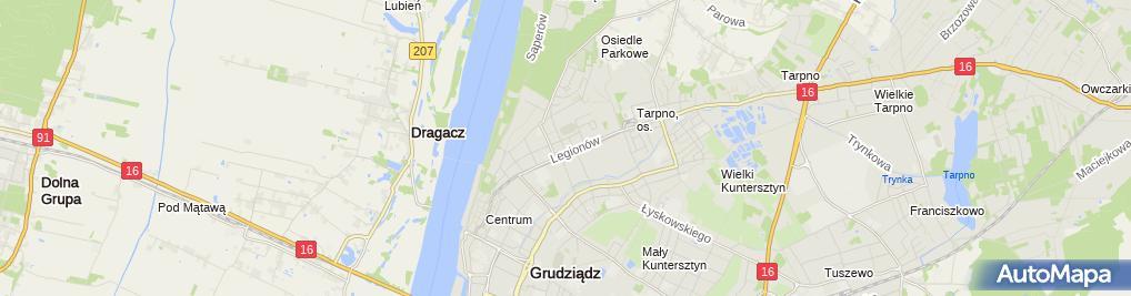 Zdjęcie satelitarne Przedsiębiorstwo Usługowe An - Plan Aneta Zwolicka