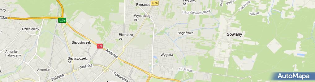 Zdjęcie satelitarne Przedsiębiorstwo Usługowe Natura Tur Andrzej Chiliński