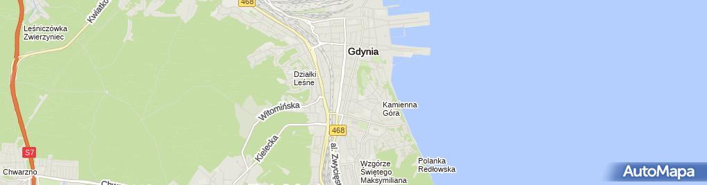 Zdjęcie satelitarne Przedsiębiorstwo Usługowo-Handlowe 'VDK' Dagmara Kalinowska