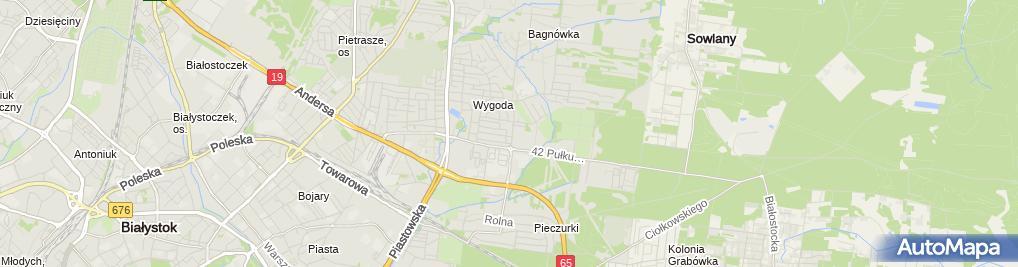 Zdjęcie satelitarne Przedsiębiorstwo Usługowo Handlowe Adam Piotr Potoczek