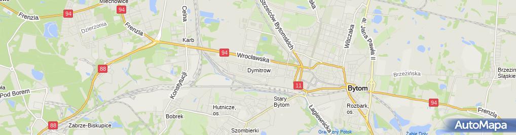 Zdjęcie satelitarne Przedsiębiorstwo Usługowo Handlowe Azymut