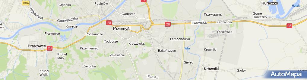 Zdjęcie satelitarne Przedsiębiorstwo Usługowo -Handlowe Bomi Michalina Kołcz