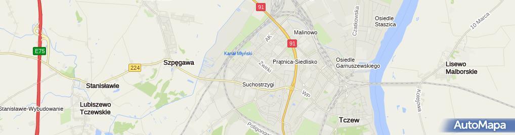 Zdjęcie satelitarne Przedsiębiorstwo Usługowo Handlowe D w Meble D Bezdziecki w Bartnicki