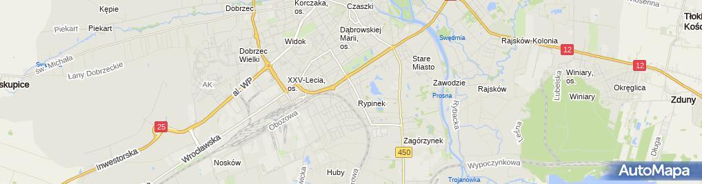 Zdjęcie satelitarne Przedsiębiorstwo Usługowo Handlowe Jadmar