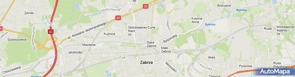 Zdjęcie satelitarne Przedsiębiorstwo Usługowo Handlowe Kacmar Mirosław Józefowicz