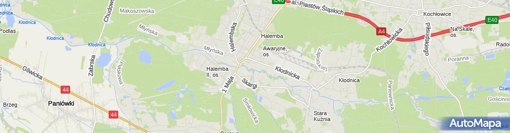 Zdjęcie satelitarne Przedsiębiorstwo Usługowo Handlowe Prokurent Jendrulok Adam Powała Mariusz
