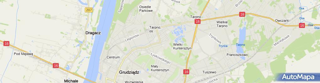 Zdjęcie satelitarne Przedsiębiorstwo Usługowo Handlowe Tospol